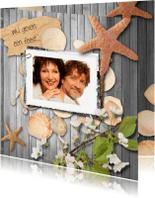 Jubileumkaarten - Uitnodiging compilatie zee en strand A