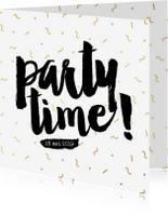 Uitnodigingen - Uitnodiging confetti feest eighties