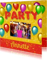 Kinderfeestjes - Uitnodiging feestje ballon