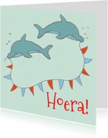 Kinderfeestjes - Uitnodiging feestje dolfijn