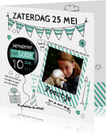 Kinderfeestjes - Uitnodiging Feestje Verjaardag