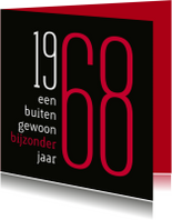 Uitnodiging geboorte 1968 sara