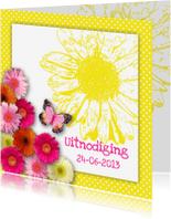 Uitnodigingen - Uitnodiging Happy Flowers