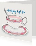 Uitnodigingen - Uitnodiging High Tea kopje