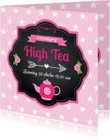 Uitnodigingen - Uitnodiging High Tea LB03