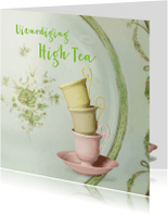 Uitnodigingen - Uitnodiging High Tea scrapbook 4 - SG