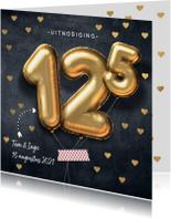 Jubileumkaarten - Uitnodiging huwelijk 12,5 jaar ballon