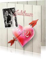 Jubileumkaarten - Uitnodiging huwelijksfeest hart2 - SG