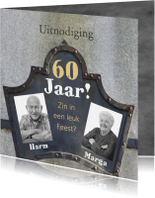 Jubileumkaarten - Uitnodiging jubileum 60 jaar