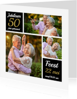 Jubileumkaarten - Uitnodiging jubileum collage OT