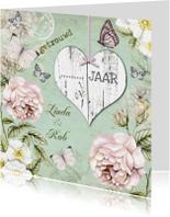 uitnodiging jubileum trouwdag vintage