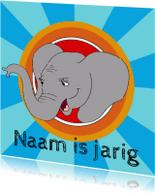 Kinderfeestjes - Uitnodiging kinderfeest olifant