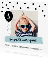 Kinderfeestjes - Uitnodiging kinderfeestje jongen confetti ballon - LB