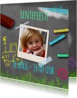 Communiekaarten - Uitnodiging lente krijtbord - BK