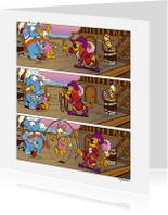 Kinderfeestjes - Uitnodiging Loeki Piraten kinderfeest - A
