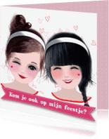 Kinderfeestjes - Uitnodiging meisje feest -LT