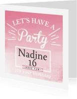 Uitnodiging Party - BF