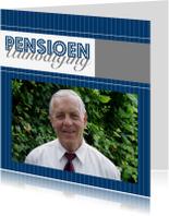 Uitnodigingen - Uitnodiging pensioen  gestreept