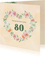 Uitnodigingen - Uitnodiging rozen in pastel met foto