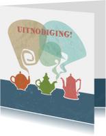 Uitnodigingen - Uitnodiging - Teapots & Coffee