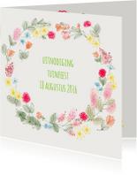 Uitnodigingen - Uitnodiging Tuin Bloemen