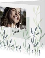 Uitnodigingen - Uitnodiging tuinfeest met foto en plantjes