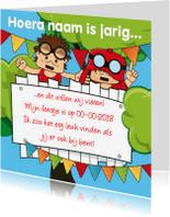 Kinderfeestjes - Uitnodiging verjaardag kinderfeestje 80