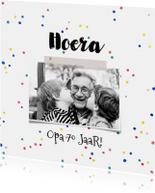 Uitnodigingen - Uitnodiging verjaardag opa feest