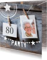 Uitnodigingen - uitnodiging verjaardag polaroid