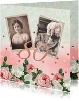 Uitnodigingen - Uitnodiging vrouw rozen foto's
