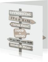 Uitnodigingen - Uitnodiging wegwijs bordjes av