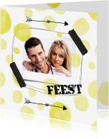 Uitnodigingen - Uitnodigingen Gele confetti