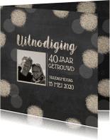 Jubileumkaarten - Uitnodigingskaart hartjes bollen