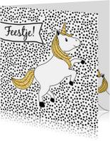 Uitnodigingskaart kinderfeestje 'Unicorn'