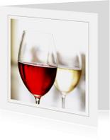 Uitnodigingen - Uitnodigingskaart rode en witte wijn
