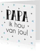 Vaderdag kaarten - Vaderdag kaart 4 - WW