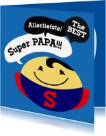Vaderdag kaarten - Vaderdag kaart Smiley Superman