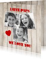 Vaderdag kaarten - vaderdag we love you-isf