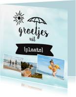 Vakantiekaarten - Vakantie groetjes uit [plaats] met foto