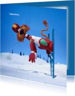Vakantiekaarten - Vakantie Loeki op de ski A