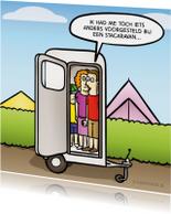 Vakantiekaarten - Vakantiekaart met grappige stacaravan cartoon