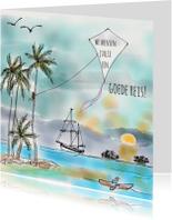 Vakantiekaarten - Vakantiekaart Tropische Vlieger