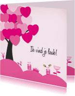 Valentijnskaarten - Valentijn - boom hart - MD