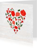 Valentijnskaarten - Valentijn, geschilderd hartje