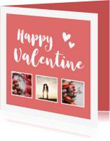 Valentijnskaarten - Valentijn - happy valentine met foto