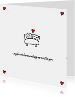 Valentijnskaarten - Valentijn in bed