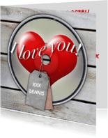 Valentijnskaarten - Valentijnskaart CD 1 Axe - RB