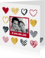 Valentijnskaart foto hartjes