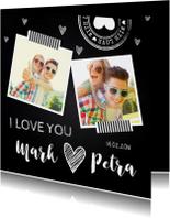 Valentijnskaarten - Valentijnskaart foto krijtbord