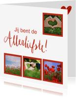 Valentijnskaarten - Valentijnskaart jij bent de allerliefste fotocollage